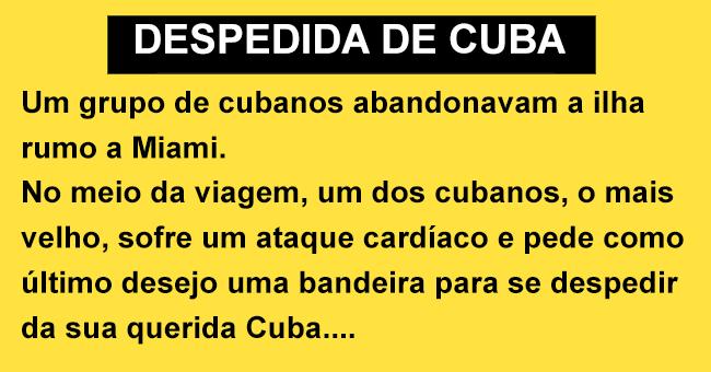 Uma despedida de Cuba à grande