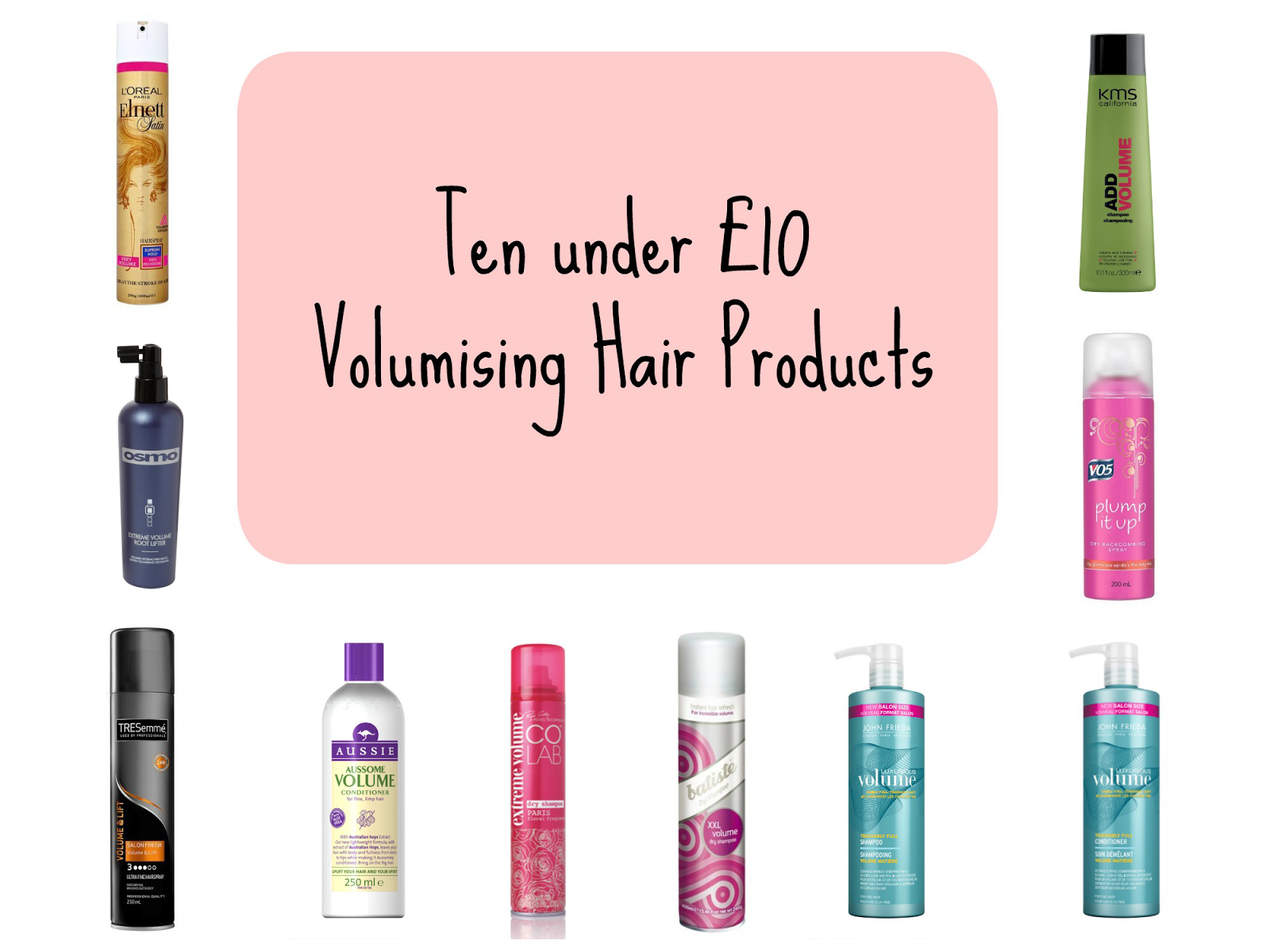 Budget volumising hair products | Hair products under £10