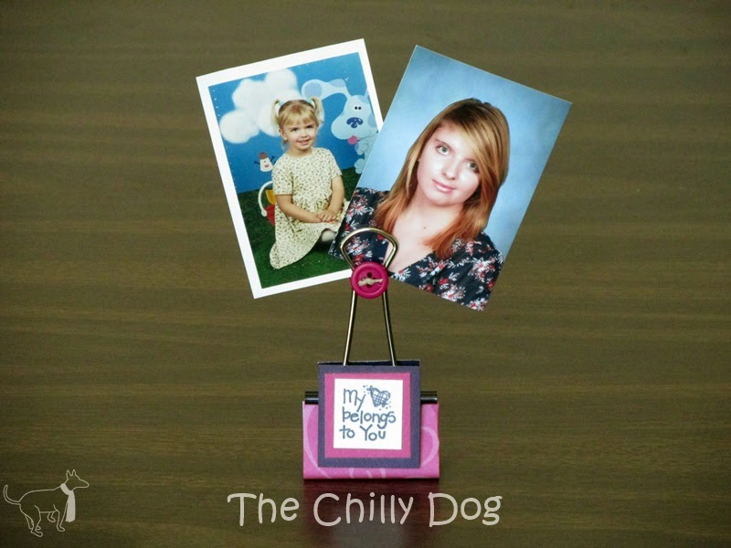 DIY Project: Binder Clip Photo Holders are an inexpensive way to display your favorite pictures