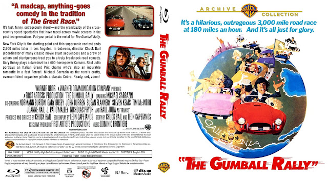 The Gumball Rally Bluray Cover