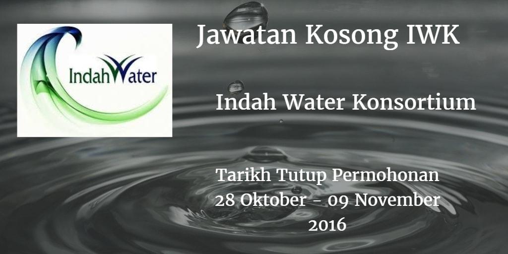 Jawatan Kosong IWK 28 Oktober - 09 November 2016