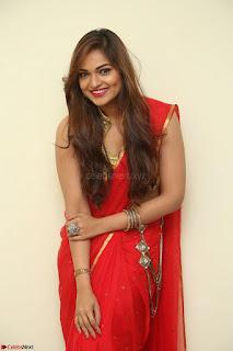 Actress Ashwini in Golden choli Red saree Spicy Pics ~  035.JPG