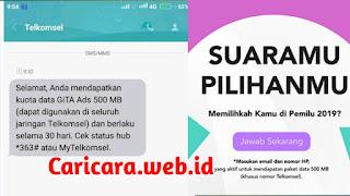 Kouta Gratis Telkomsel 500Mb Terbaru 2019