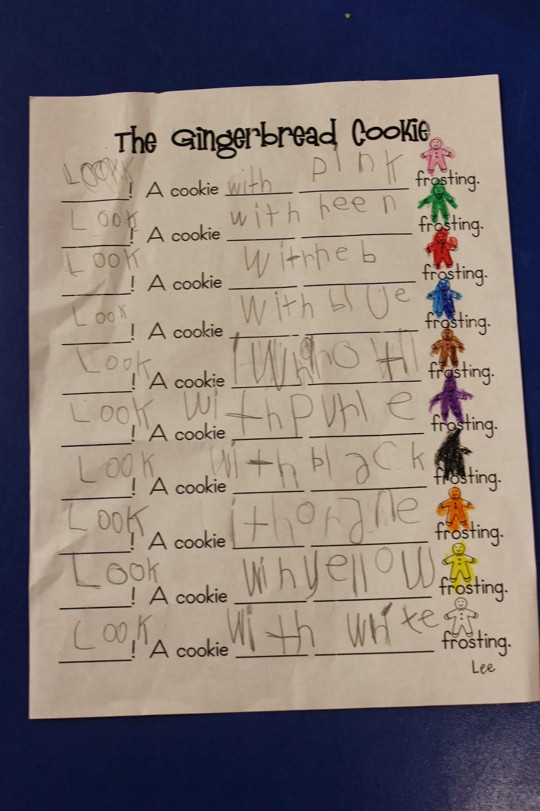 Mrs Lee S Kindergarten Gingerbread Man Ideas