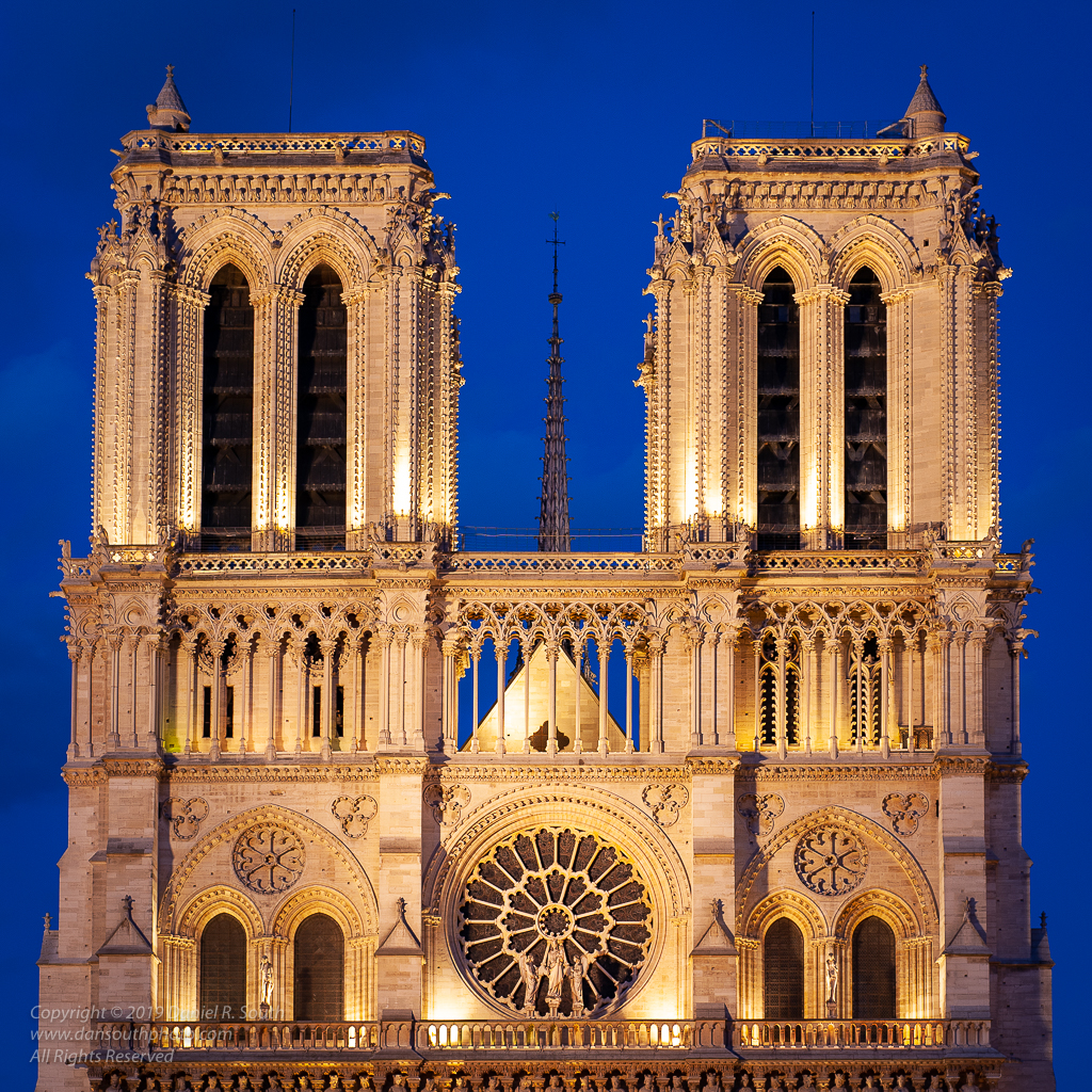 a photo of notre dame de paris cathedral france by daniel south