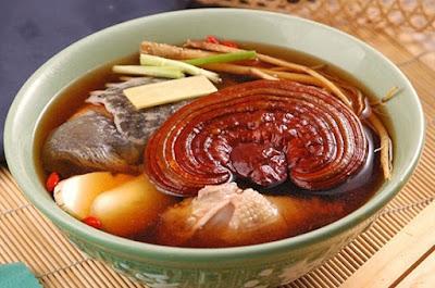 Món ăn trị mất ngủ từ nấm linh chi đỏ