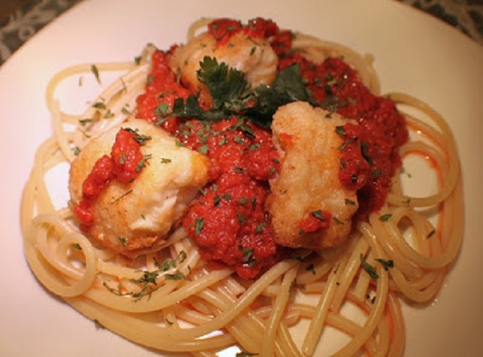 this is how to make salted cod fish called Italian baccala over pasta
