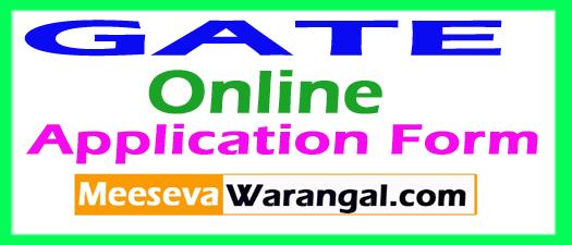 GATE Online Application Form 2018