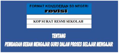 Contoh Format SK PBM SD, SMP Tahun Pelajaran 2019/2020 lengkap