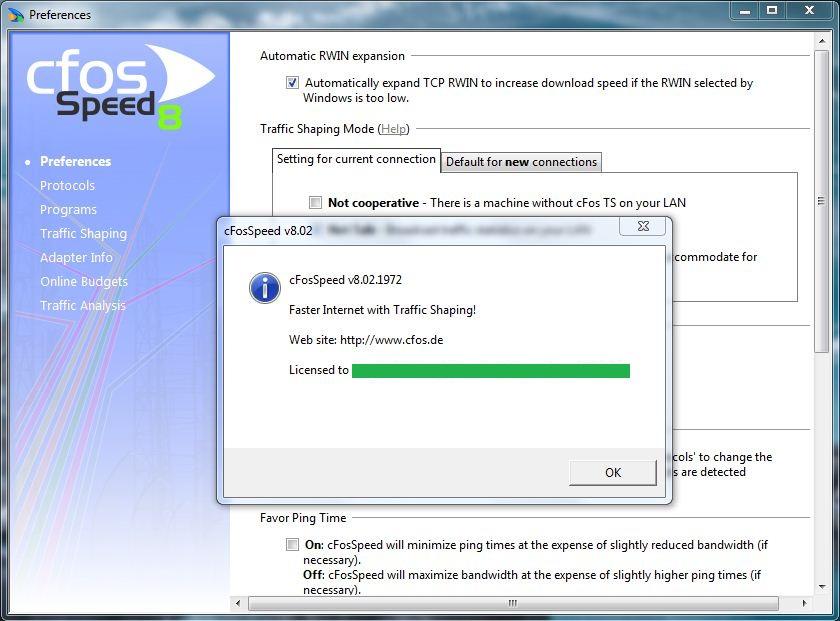 cFosSpeed (64 bit) screenshot