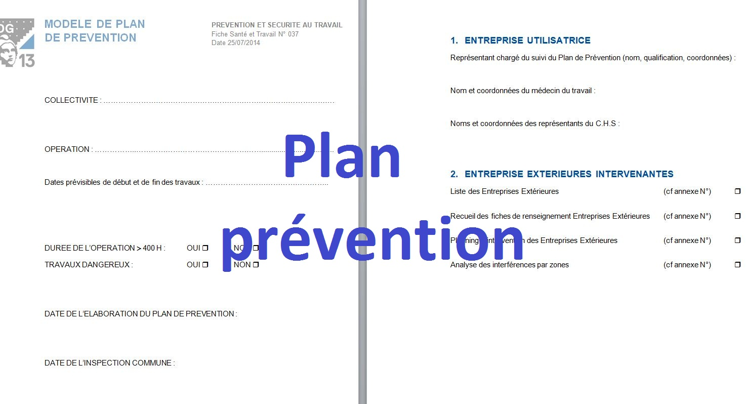 mod le plan de pr vention doc word cours g nie civil