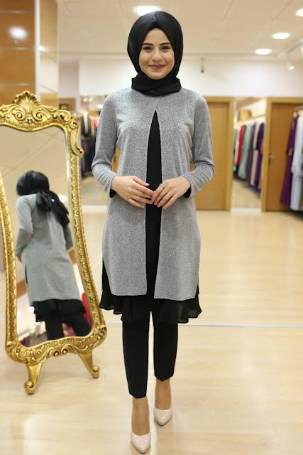 Son trend sim modası-simli tunik modelleri
