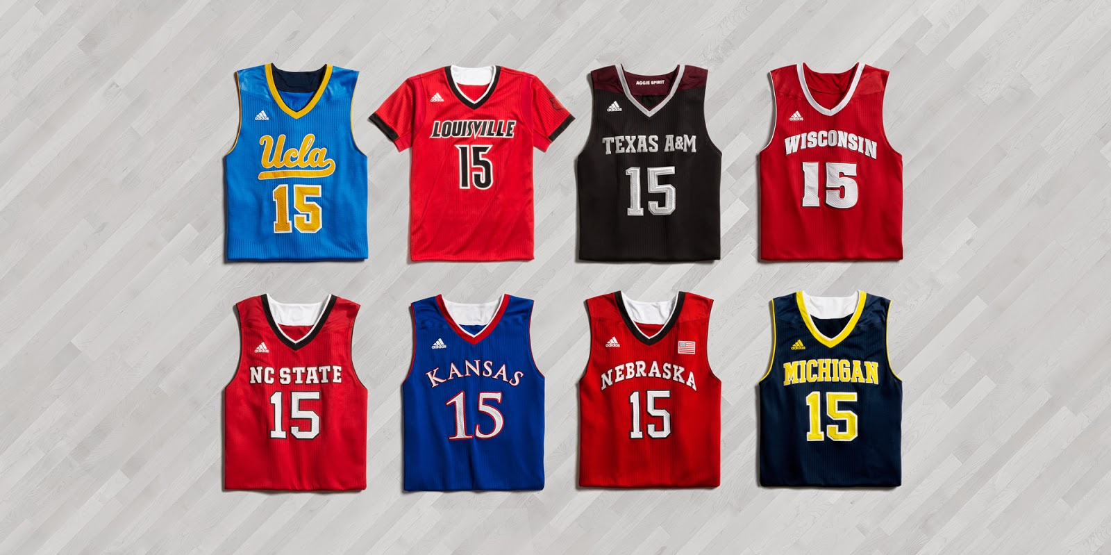 95752ef76108 adidas Unveils New College Basketball Uniforms for March Madness ...