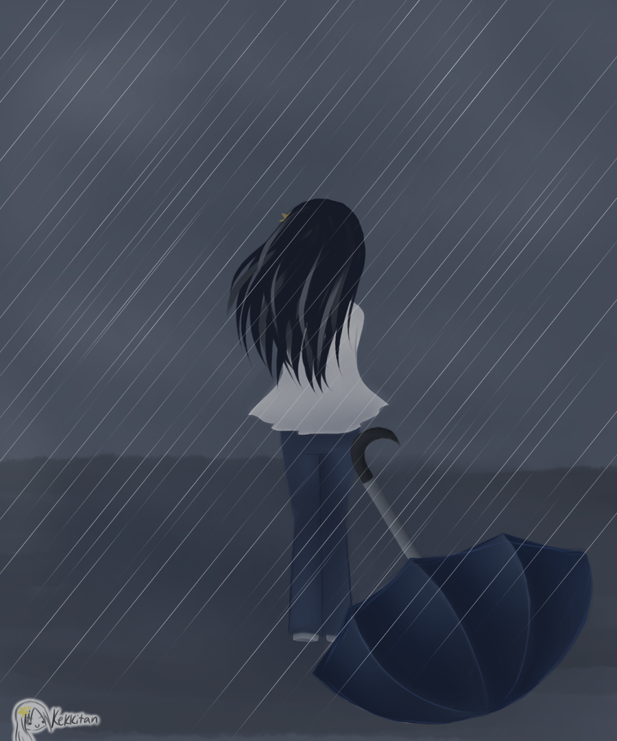 Sad Wallpapers With Quotes In Urdu Anime Girl Crying In The Rain Alone Www Imgkid Com The