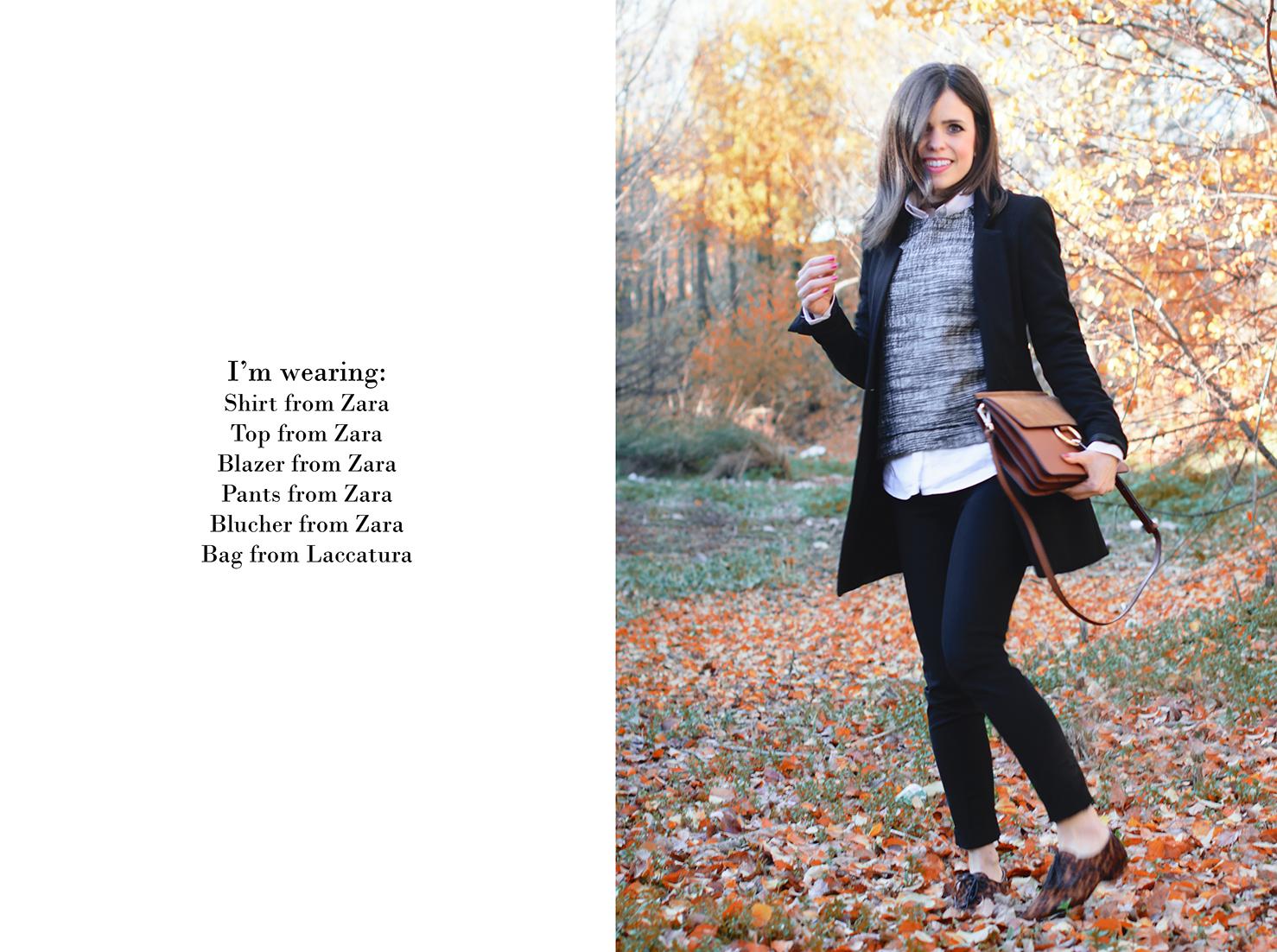 Look de estilo working de Zara con bolso inspiración chloe