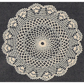Vintage 1940's crocheted shell doily pattern