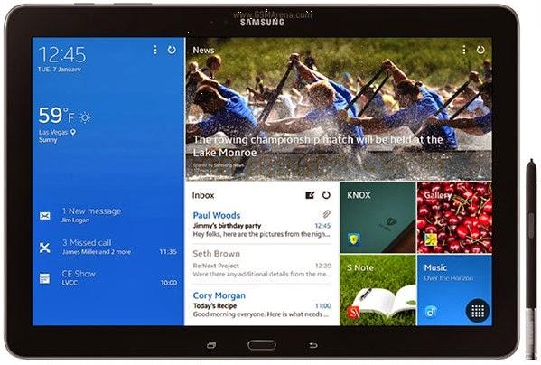 Spesifikasi dan Harga Samsung Galaxy Note Pro 12.2 Terbaru 2014