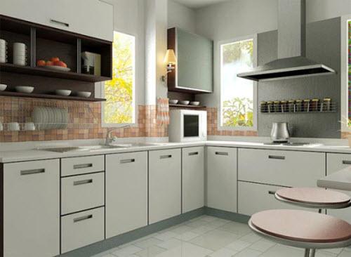 Mẫu tủ bếp Acrylic đặc biệt cho mùa hè 2017