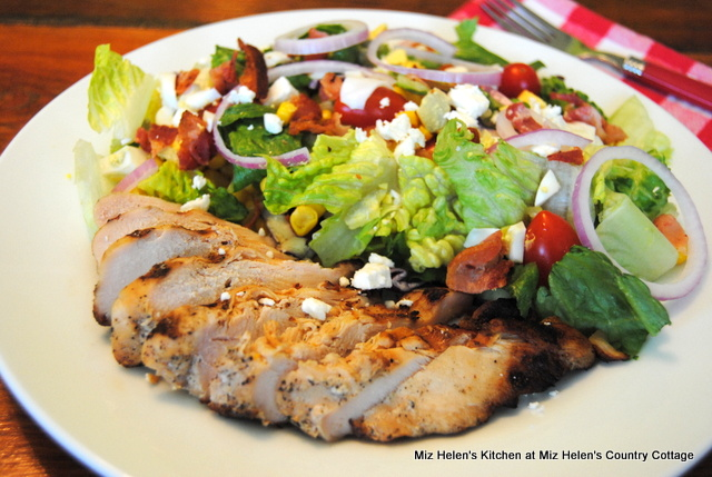 Cobb Salad With Grilled Chicken at Miz Helen's Country Cottage
