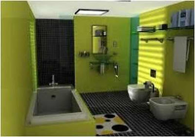 Bathroom Ideas With Blue And Yellow Exotic