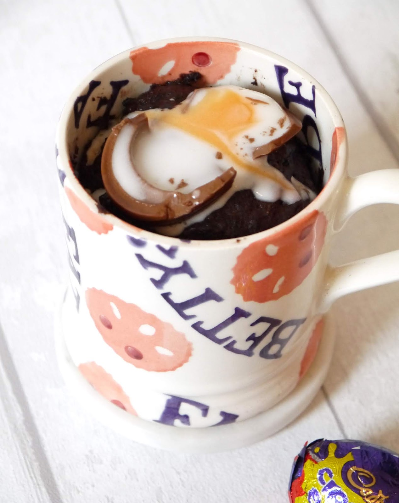 The Betty Stamp Creme Egg Easter Chocolate Mug Cake Recipe
