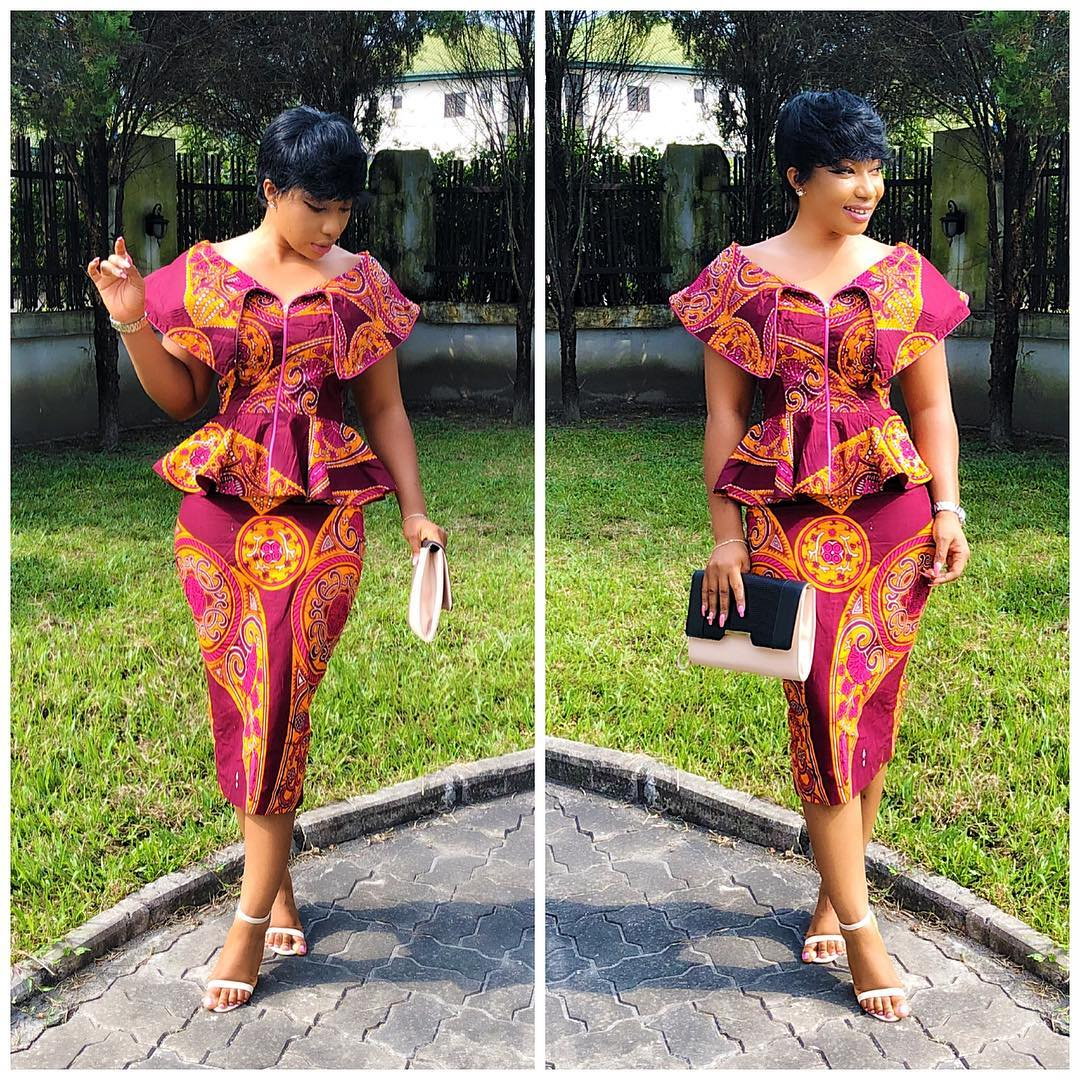 40+ Latest New Ankara Short Gown Styles 2018 for Bright