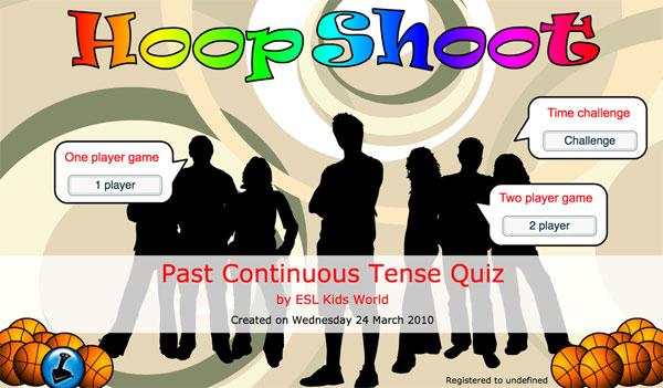 Juego interactivo para practicar las formas del pasado continuo en inglés
