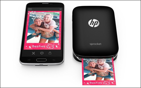 HP Sprocket वायरलेस, पॉकेट आकार के फोटो प्रिंटर 8,999 रुपए