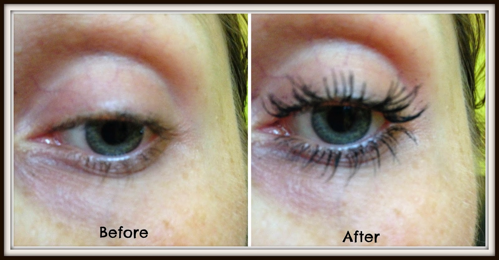 bourjois fan-tastic volume mascara before and after