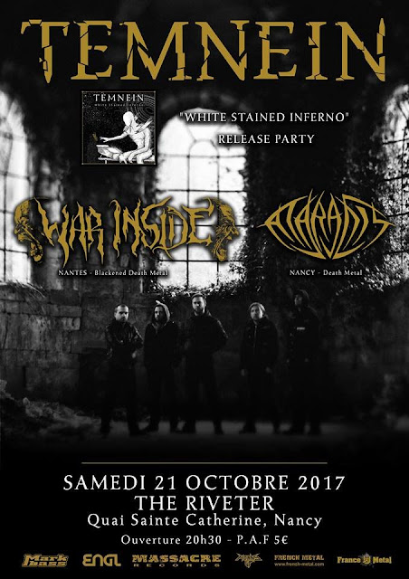 Temnein (Release party) + War Inside + Ataraxis @The Riveter, Nancy 21/10/2017