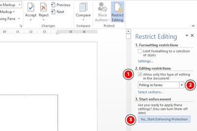 Cara agar document word tidak bisa di edit