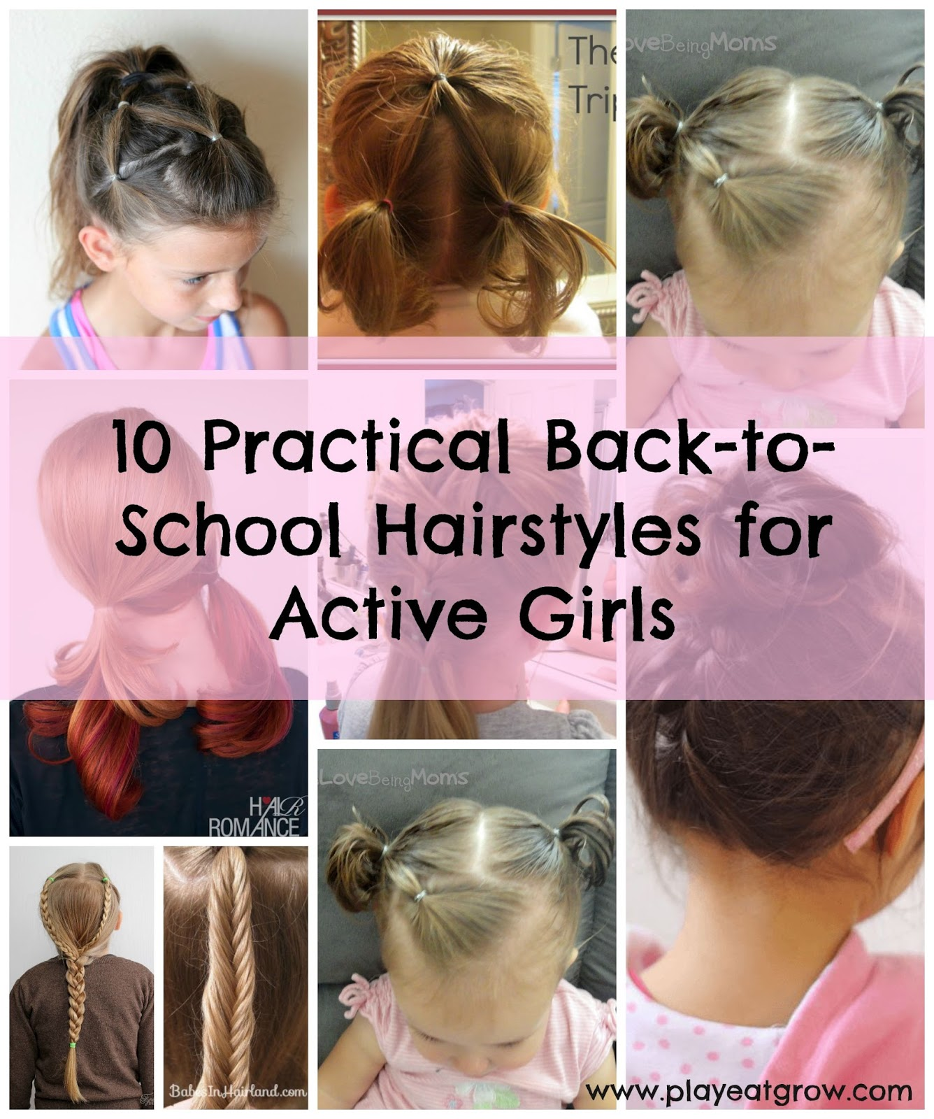10 Quick Easy Hairstyles For Active Girls