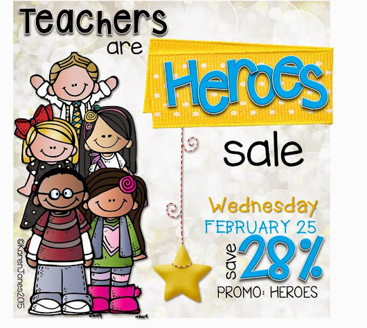 Teachers Are Heroes TPT Sale