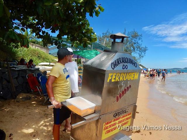 Ambulantes na Praia da Tartaruga