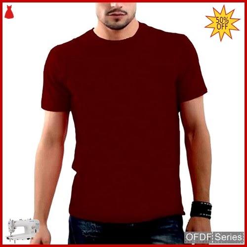 OFDF244 Kaos Pria Spandex Basic Polos Merah BMGShop