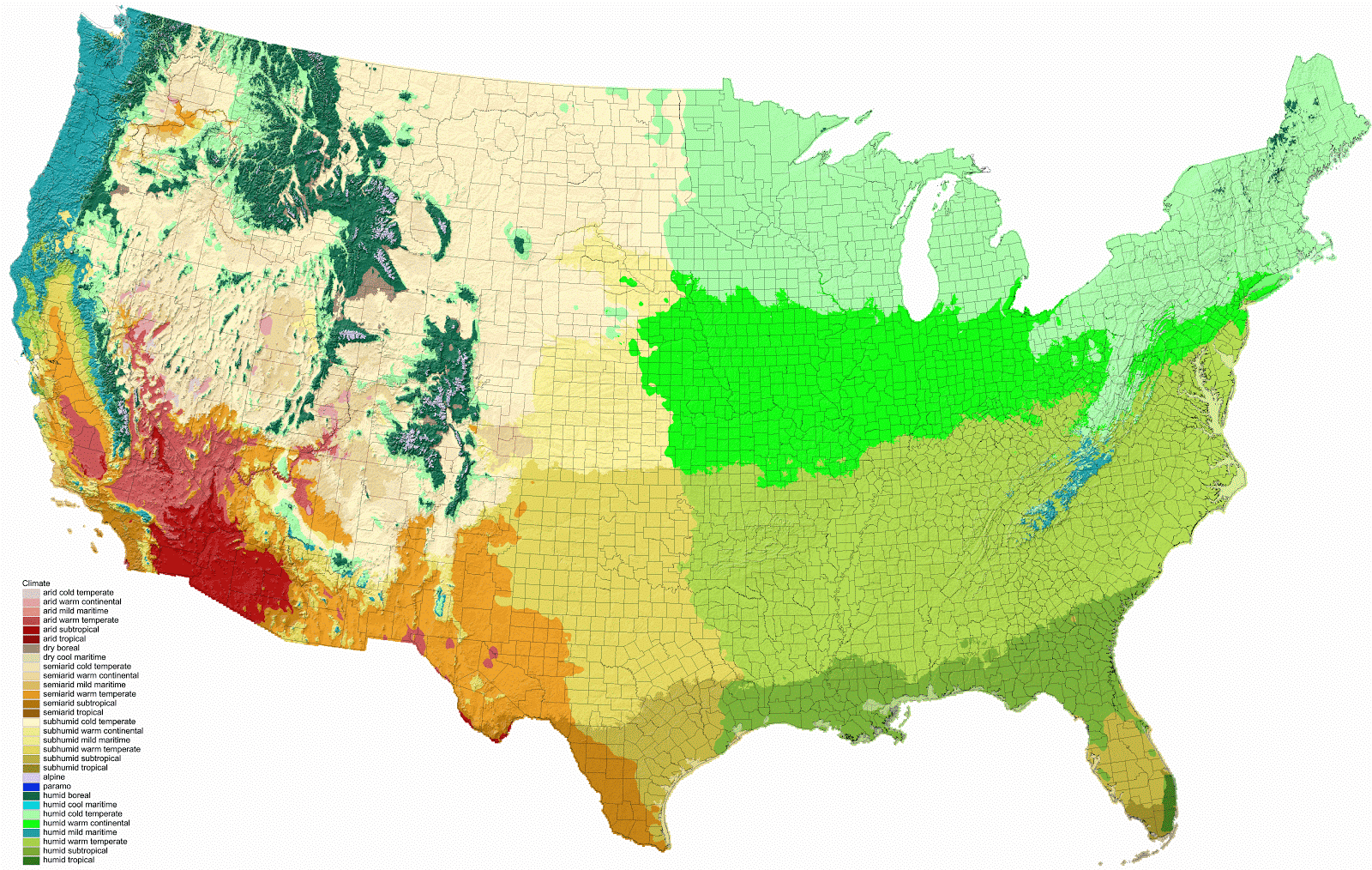 Climate of the United States