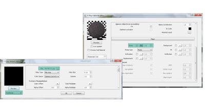 V-ray material editor: Asphalt settings
