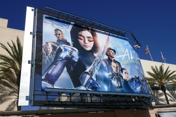 Alita Battle Angel film billboard