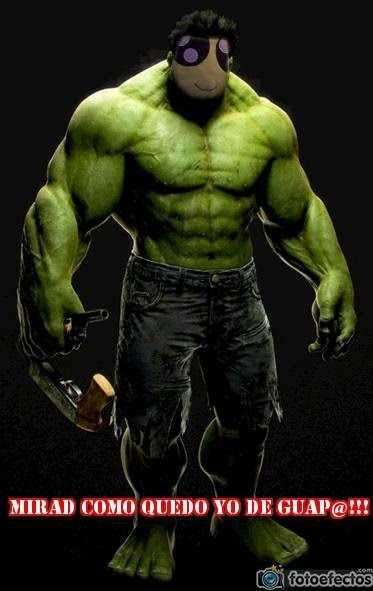 Mini-Fu en el papel de Hulk