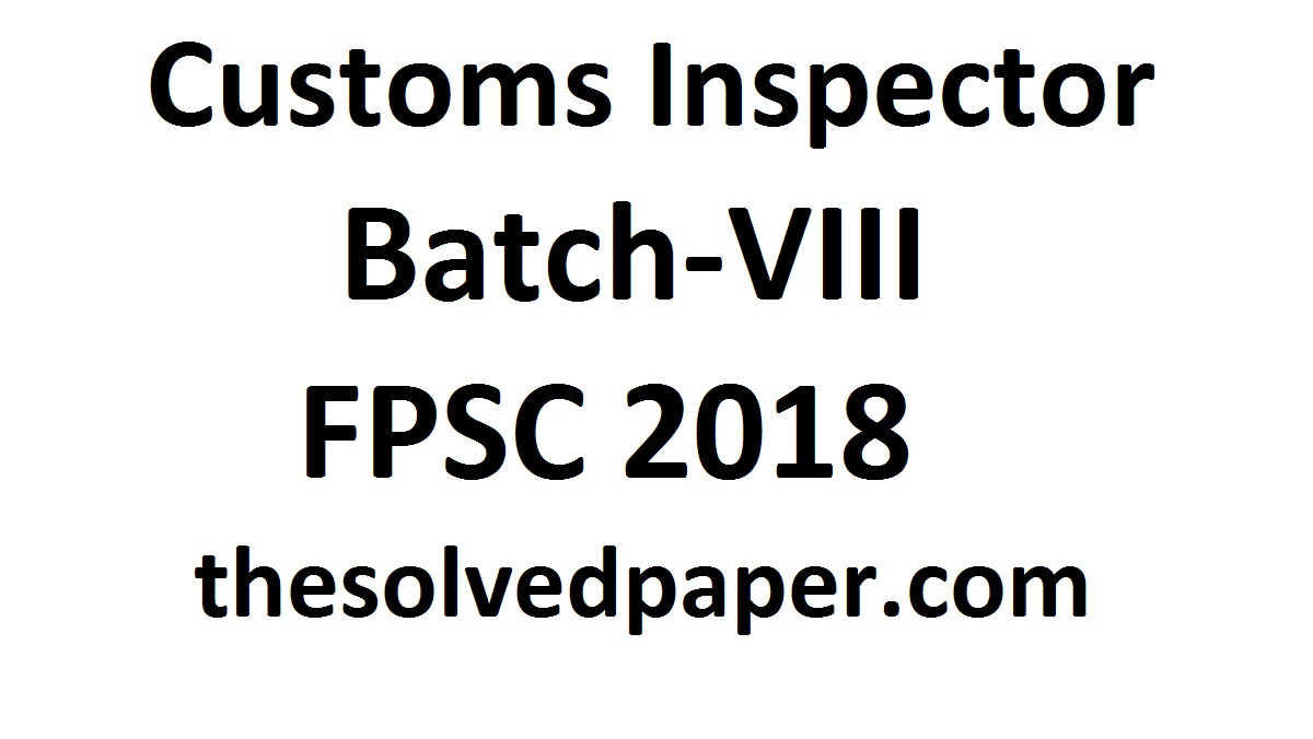 FIA Constable Past Papers 2018 - Point for Past Papers
