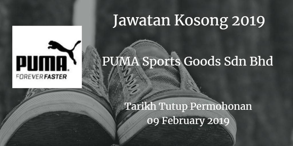 Jawatan Kosong PUMA Sports Goods Sdn Bhd 09 February 2019