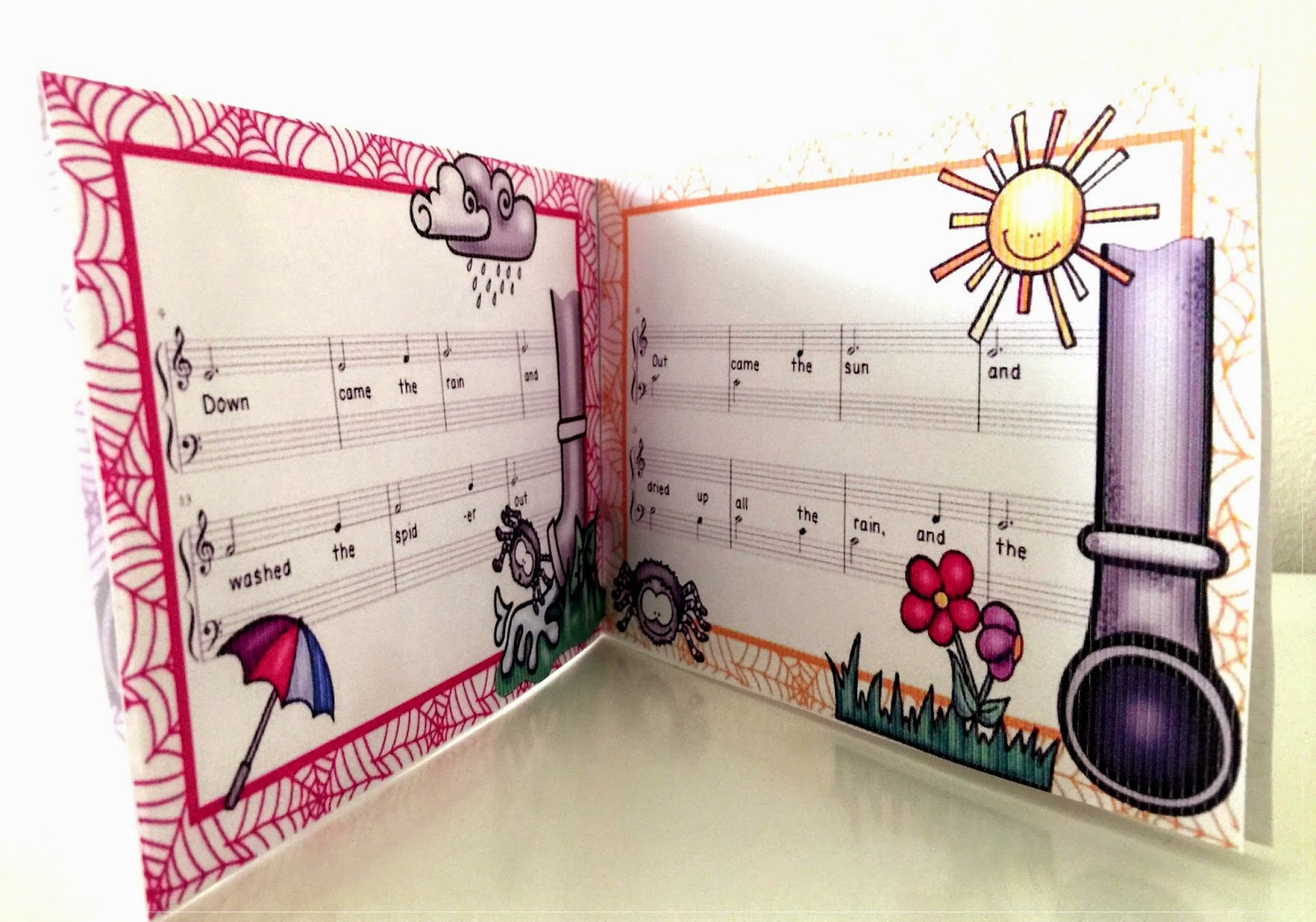 Hord S Studio Itsy Bitsy Spider Music Book Incy Wincy Spider