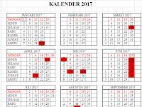 Kalender Pendidikan Tahun 2017 dilengkapi Rincian Hari Efektip