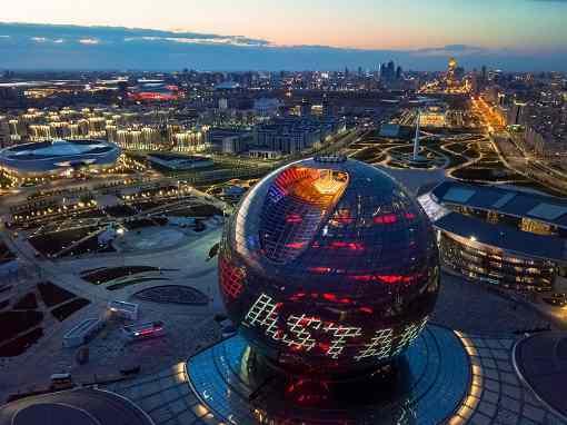 Le lieu du tournoi d'échecs par équipes est l'AIFC - Astana International Financial Centre - inauguré en juillet 2018 et situé au 55/17 Avenue Mangilik El - Photo © site officiel