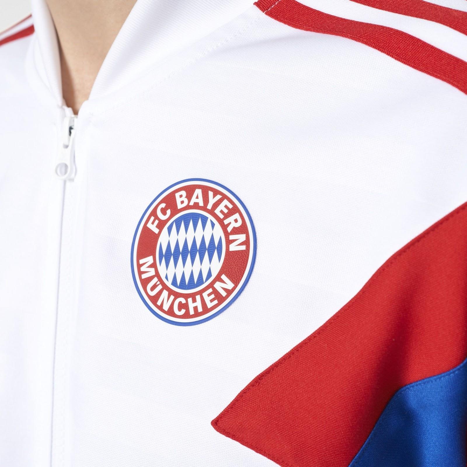 hot sale online b3534 5423b Adidas Originals FC Bayern München 2017-18 Track Jacket ...