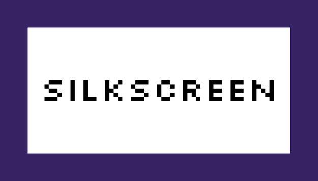 Font Silkscreen Download