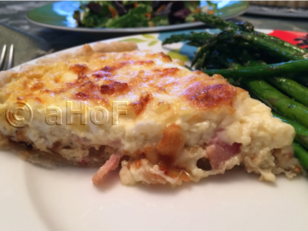 Quiche Alsacienne for dinner