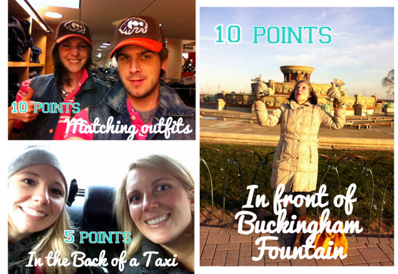 Extra points were awarded in the photo hunt for the trickier locations like in front of Buckingham Fountain.