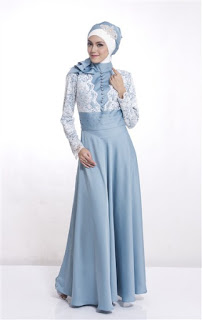 Model Gamis Pesta Bahan Brokat