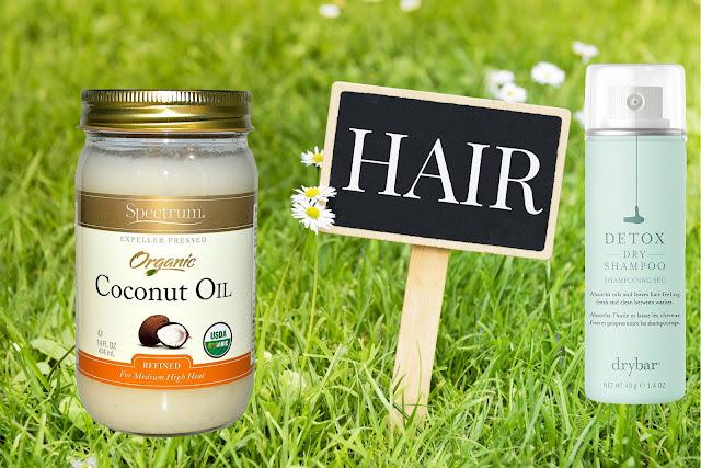 Hair Favorites; Coconut oil, Drybar Detox dry shampoo